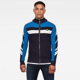 G-Star RAW® Axler Zip Through Knit Dark blue model front