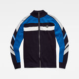 G-Star RAW® Axler Zip Through Knit Dark blue flat front