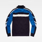 G-Star RAW® Axler Zip Through Knit Dark blue flat back