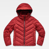 G-Star RAW® Whistler Slim Down Jacket Red flat front
