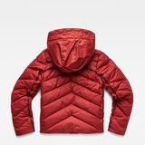 G-Star RAW® Whistler Slim Down Jacket Red flat back