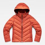 G-Star RAW® Whistler Slim Down Jacket Orange flat front