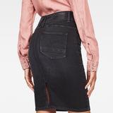 G-Star RAW® Lynn Slim Skirt Black model back
