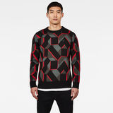 G-Star RAW® Mimesis Knitted Sweater Black model front