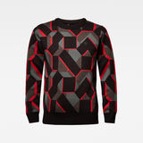 G-Star RAW® Mimesis Knitted Sweater Black flat front