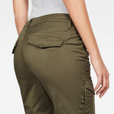 G-Star RAW® Rovic Mid Waist Skinny Cargo Pant Green model back zoom