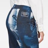 G-Star RAW® Rijks Lanc Skinny Trackpants Dark blue model back zoom
