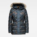 G-Star RAW® Whistler Faux Fur Down Tailored Jacket Dark blue flat front