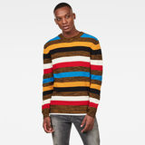 G-Star RAW® Mike Stripe Knitted Sweater Black model front