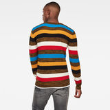 G-Star RAW® Mike Stripe Knitted Sweater Black model back