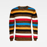 G-Star RAW® Mike Stripe Knitted Sweater Black flat front
