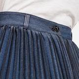 G-Star RAW® 30 Years Plisse Skirt Medium blue model back