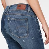 G-Star RAW® Lynn Mid Waist Skinny Ripped Jeans Medium blue