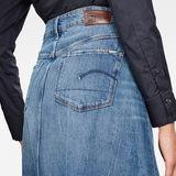G-Star RAW® 3301 A-line Midi Ripped Edge Skirt Medium blue
