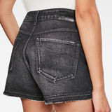 G-Star RAW® 3301 High Boyfriend Ripped Edge Shorts Black front flat