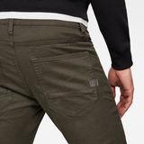 G-Star RAW® D-Staq Slim 5-Pockets Pants Grey model back zoom
