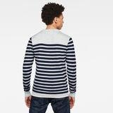 G-Star RAW® Jersey Stripe  Knitted Azul claro model back