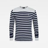 G-Star RAW® Jersey Stripe  Knitted Azul claro flat front