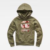 G-Star RAW® Hooded Sweatshirt Grün model front