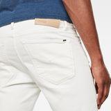 G-Star RAW® Short Denim Slim 3301 Blanc model back zoom