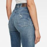 G-Star RAW® Kafey Ultra High Skinny Ripped Edge Ankle Jeans Medium blue