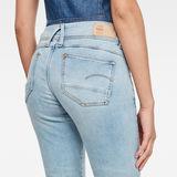 G-Star RAW® Lynn Mid Skinny Ripped Edge Ankle Jeans Light blue