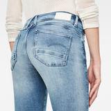 G-Star RAW® Lynn Mid Skinny Ripped Edge Ankle Shorts Light blue