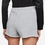 G-Star RAW® High Waist Sweat Shorts Grey model back zoom