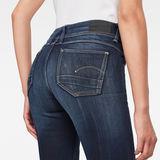 G-Star RAW® Lynn Mid Waist SkinnyJeans Medium blue model back zoom