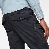 G-Star RAW® Roxic Straight Tapered Cargo Pants Dark blue model back zoom