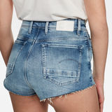 G-Star RAW® Kafey Ultra High Hotpants Raw Edge Hellblau front flat