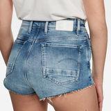 G-Star RAW® Kafey Ultra High Hotpants Raw Edge Light blue front flat
