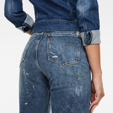 G-Star RAW® Tedie Ultra High Straight Ripped Edge Ankle Jeans Medium blue