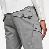G-Star RAW® Roxic Straight Tapered Cargo Pants Grey model back zoom