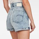 G-Star RAW® Tedie Ultra High Shorts Light blue front flat