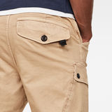 G-Star RAW® Roxic Straight Tapered Cargo Pants Brown model back zoom