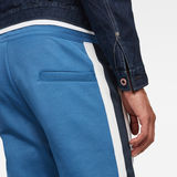 G-Star RAW® Side Stripe Sweatpants Medium blue model back zoom