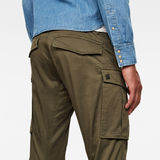 G-Star RAW® 3D Cargo Straight Tapered Pant Green model back zoom