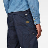 G-Star RAW® Jungle Relaxed Tapered Cargo Pants Dark blue model back zoom
