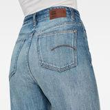 G-Star RAW® Tedie Ultra High Straight Turn Up Raw Edge Ankle Jeans Medium blue