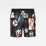 G-Star RAW® Dirik Swimshorts Allover Black front bust
