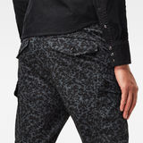 G-Star RAW® Roxic straight tapered cargo pant Black model back zoom