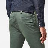 G-Star RAW® Skinny chino Pant Green model back zoom