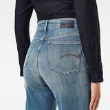 G-Star RAW® Tedie Ultra High Straight Raw Edge Ankle Jeans Medium blue