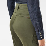 G-Star RAW® High G-Shape Cargo Skinny Pants Green model back zoom