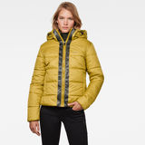 G-Star RAW® Meefic Hooded Padded Jacket Green model front