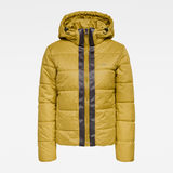 G-Star RAW® Meefic Hooded Padded Jacket Green flat front