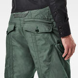 G-Star RAW® Pantalon Flight Cargo Relaxed Tapered Cuffed Vert model back zoom