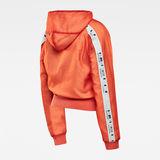 G-Star RAW® Reversible Zip Through Hoodie Orange flat back