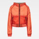 G-Star RAW® Reversible Zip Through Hoodie Orange model front